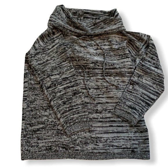 NWOT cowl neck grey sweater very soft 1X